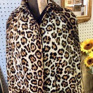 Jackets & Blazers - Faux Leopard reversible cape coat